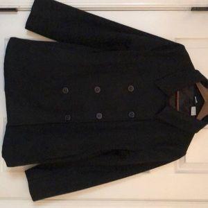 Jackets & Blazers - Black wool pea coat